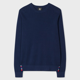 Paul Smith Men's Indigo Cotton-Blend Textured-Knit Sweater