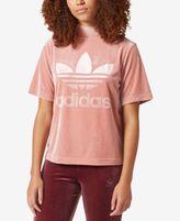 adidas Velvet Vibes Mock-Neck T-Shirt