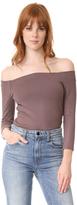 L'Agence Maria 3/4 Sleeve Off Shoulder Top