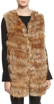 Alice + Olivia Joss Fox & Rabbit Fur Knit Vest