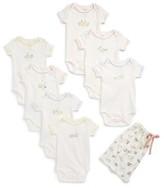 Infant Mini Boden River Ducks Set Of 7 Bodysuits