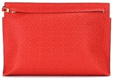 Loewe T Pouch leather clutch