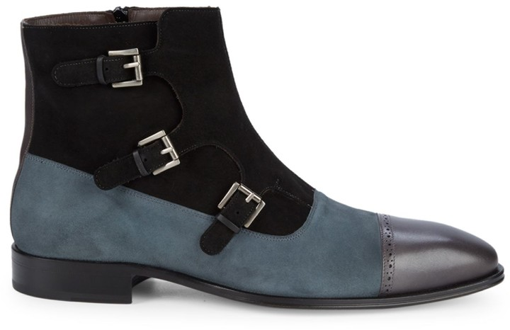 1493d2a4c61 Classic Suede & Leather Ankle Boots