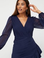 Very Ruched Mini Dress - Navy