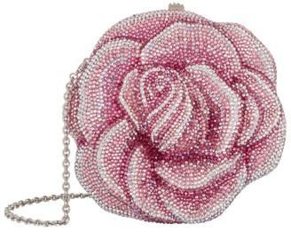 Judith Leiber Embellished Rose Clutch Bag