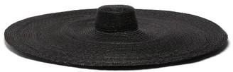 Eliurpi - Le Grand Oversized Straw Hat - Womens - Black