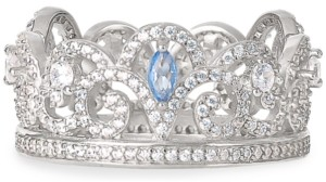 Disney Cubic Zirconia Princess Crown Ring in Sterling Silver