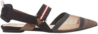 Fendi Colibri FF motif slingback ballerina shoes