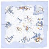 Hermes Blue Silk Silk handkerchief Carré