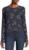 Joie Varden Cherry-Print Cashmere Sweater