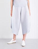 Pleats Please Issey Miyake Wide-leg pleated culottes