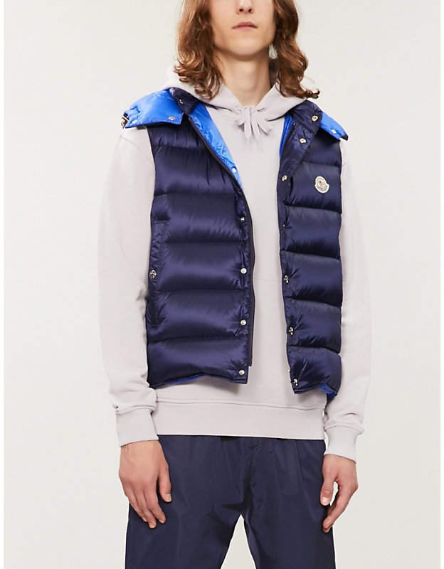 6b90ec4ba Legere logo-patch hooded quilted down gilet