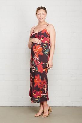 Maternity Crepe Bias Dress