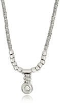 Orlando Orlandini White Gold Chain Snake Necklace w/Diamond