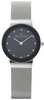 Skagen Women's 'Freja' Mirror Bezel Mesh Strap Watch, 26Mm