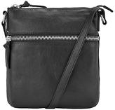 John Lewis Harriet Small Leather Cross Body Bag, Black
