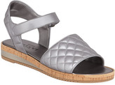 Sesto Meucci Sela Quilted Metallic Leather Sandals