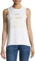 David Lerner Good Day Graphic Muscle Tee