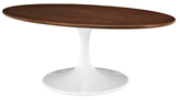 Modway Lippa Walnut Wood Coffee Table