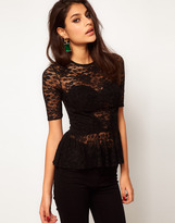 Asos Lace Top with Corset Detail