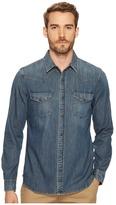 AG Adriano Goldschmied Ethan Long Sleeve Denim Shirt Men's Clothing