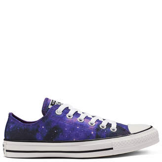 Converse Chuck Taylor All Star Miss Galaxy Ox Trainers - Black/Court Purple/White