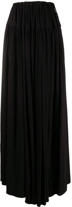 Ann Demeulemeester Full Gathered Detail Skirt