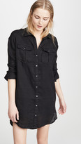 James Perse Military Linen Shirt Dress