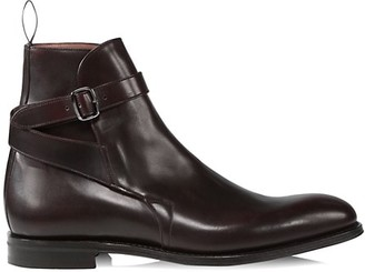 Church's Bletsoe Buckle-Strap Leather Ankle Boots