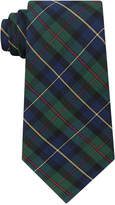 Club Room Men's Green Tartan Silk Tie, Created for Macy's