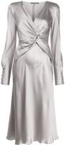 Alberta Ferretti twist-front dress