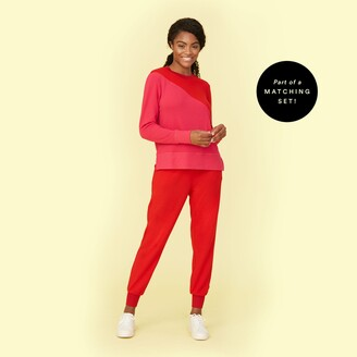 Summersalt The Softest French Terry Jogger - Lava & Hibiscus