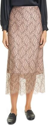 Vince Lace Tulle Slip Skirt