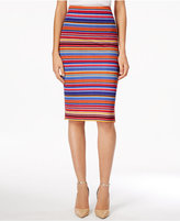 ECI Striped Jacquard Pencil Skirt