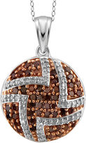 FINE JEWELRY 1/2 CT. T.W. White & Color-Enhanced Red Diamond Sterling Silver Pendant