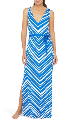 La Blanca Archistripe Cover-Up Maxi Dress