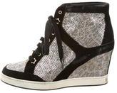 Jimmy Choo Sequined Wedge Sneakers