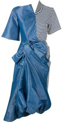 Junya Watanabe asymmetric midi dress