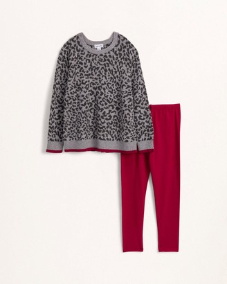Splendid Little Girl Leopard Sweater Knit Set