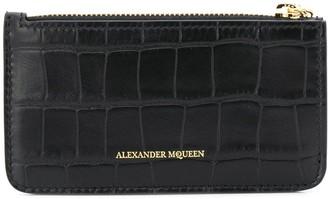 Alexander McQueen Skull Charm Zipped Cardholder