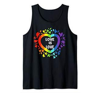 LGBT Rainbow heart Love is love Shirt For Pride Day 2019 Tank Top