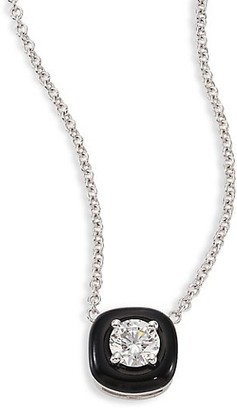 Nikos Koulis Oui Diamond, Enamel & 18K White Gold Pendant Necklace