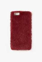 Missguided Burgundy Faux Fur iPhone 6 Case