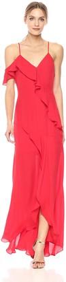 Parker Women's Black Emilia Spaghetti Strap Silk Full Length Dress