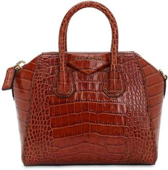 Givenchy MINI ANTIGONA CROC EMBOSSED LEATHER BAG
