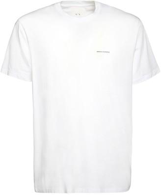 Armani Exchange Printed Logo Cotton Jersey T-Shirt