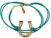 Large Horseshoe Leather Wrap Bracelet