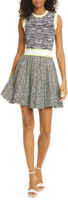 Ted Baker Lebiiey Mixed Animal Pattern Skater Dress