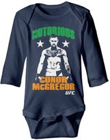 Kid Clothes Conor McGregor Notorious Hero Girls And Boys Long Sleeve Baby Onesies Clothes