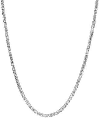 Genevive Silver Cz Tennis Necklace